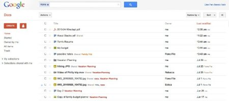 Google Docs cambia la interfaz de la lista de documentos y le añade atajos de teclado
