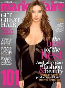 Miranda Kerr para Marie Claire Australia o el extraño caso del pecho sin sentido alguno
