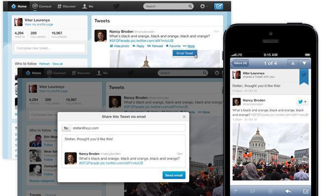 Tweets por email