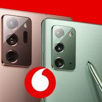 Precios Samsung Galaxy Note 20 y Note 20 Ultra con Vodafone: a partir de 37 euros al mes en 24 cuotas