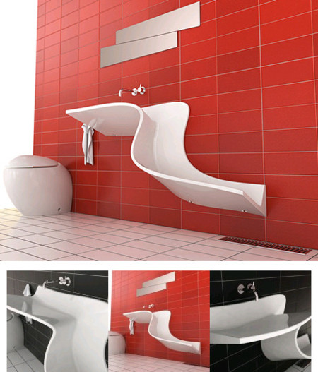 Abisko, un lavabo que simula una cascada