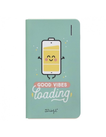Bateria Externa Power Bank Good Vibes Loading Mr Wonderful