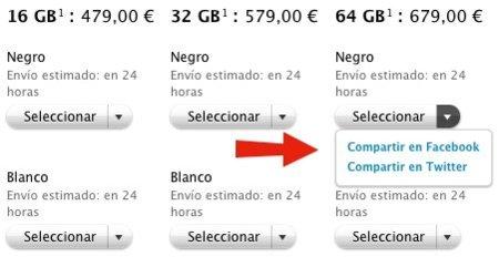 La web de la Apple Store estrena funciones sociales en todos sus productos