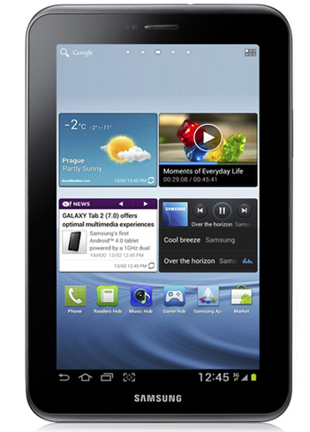 Samsung Galaxy Tab 2 con Ice Cream Sandwich