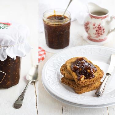 Confitura de higos y nueces especiada, receta para alegrar los desayunos