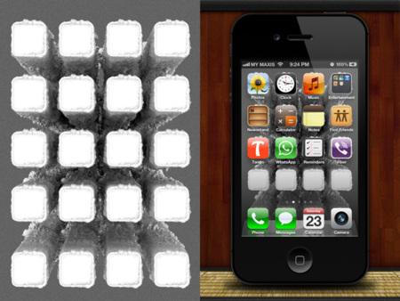 Fondo para el iPhone de Nano tubos