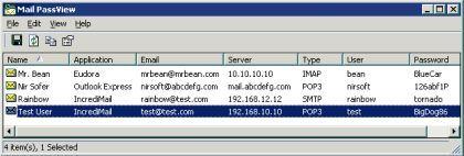 Recupera la contraseña de tu cuenta de correo con Mail PassView