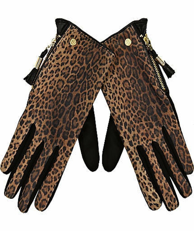 guantes de leopardo