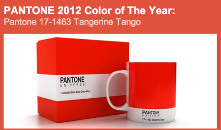 Pantone ya tiene color para 2012: Tangerine Tango