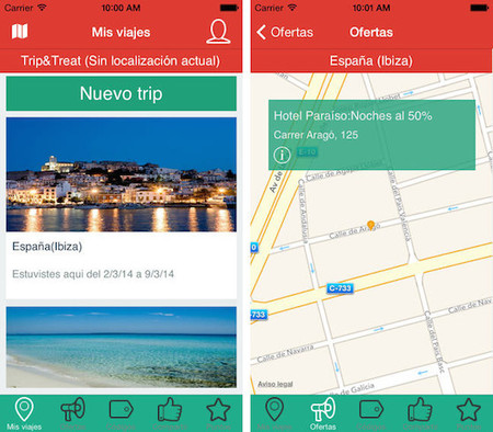 Trip&Treat, aplicación gratuita para que los descuentos te encuentren en lugar de buscarlos