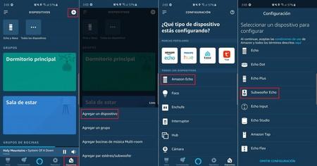 Amazon Alexa Aplicacion Configurar Echo Sub
