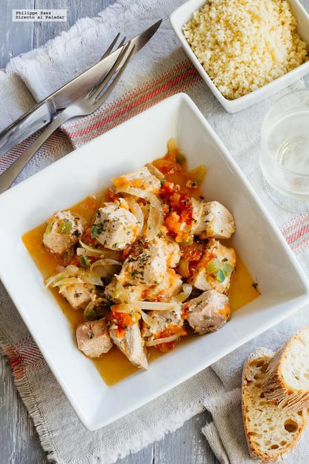 Receta de atún con tomate y cebolla