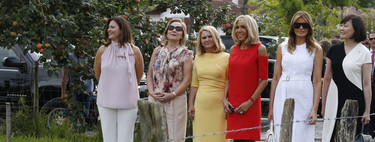 Melania Trump se baja de los tacones en la cumbre del G7