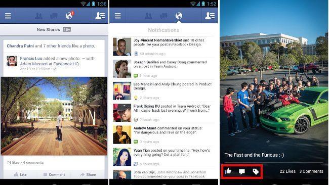 Facebook renueva por fin su aplicación para Android