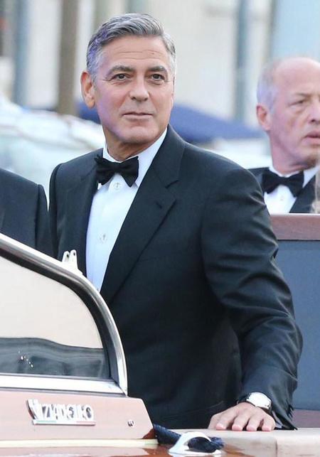 George Clooney, un implecable novio de esmoquin en su boda con Amal Alamuddin