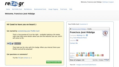 Retagrr, la tarjeta de nuestro perfil interactiva