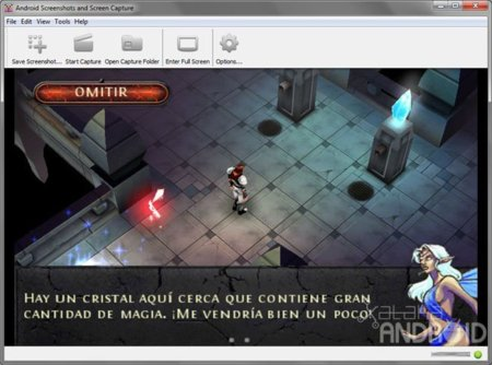 Captura de pantalla de Android Screen Capture en horizontal