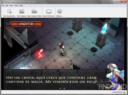 Captura de pantalla de Android Screen Capture en horizontal