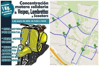 Primera Concentración Motera Solidaria de Vespas, Lambrettas y Scooters en Madrid