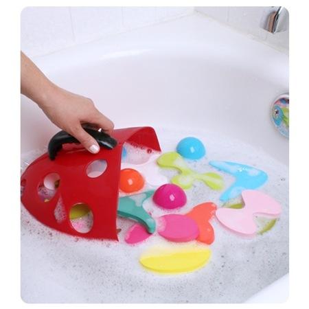 accesorio baño mariquita infantil agua