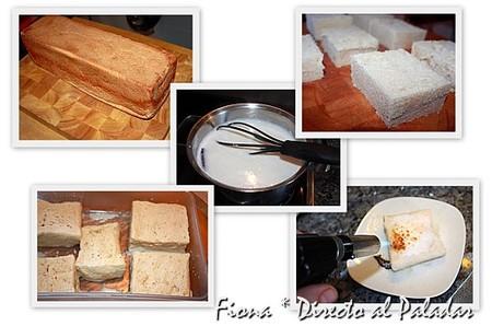 Preparación de la torrija caramelizada