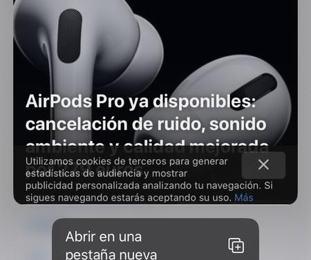 Cómo deshabilitar la vista previa de enlaces en Safari para iOS 13