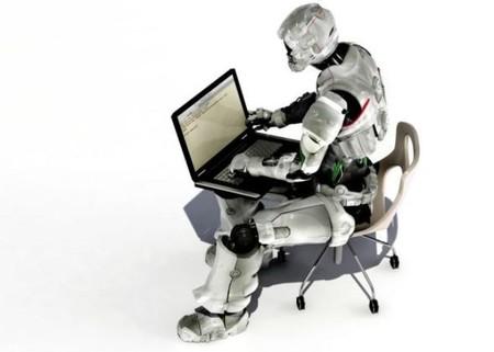 Un robot escribe noticias de último minuto en el periódico Los Angeles Times