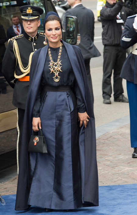 Mozah bint Nasser Holanda rey coronación