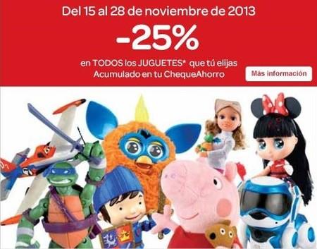 Carrefour te regala el 25 % de tu compra en juguetes