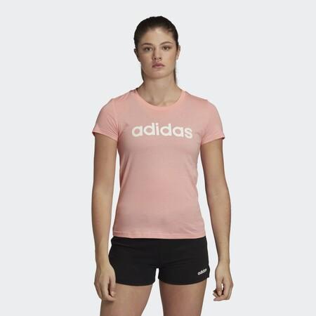 Camiseta Essentials Linear Rosa Fm6423 21 Model