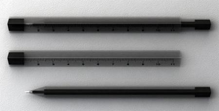 Ruler Pen, bolígrafo con regla incorporada