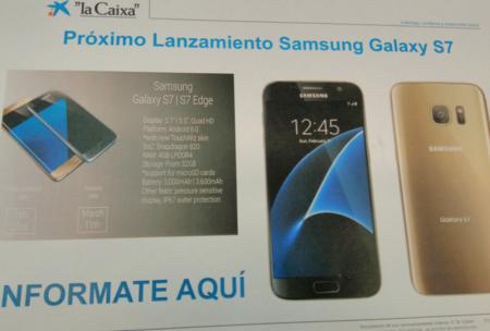 El banco español La Caixa publica todos los detalles del Samsung Galaxy S7