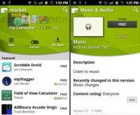 Se filtra por accidente la nueva versión del Android Market con nuevas aplicaciones propias de Google