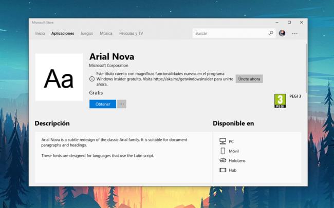 Ahora podremos descargar e instalar tipografías en Windows 10 desde la tienda de Microsoft