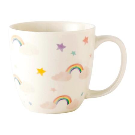 Taza con arco iris
