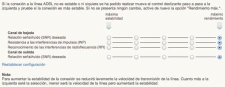 Configuración de la línea