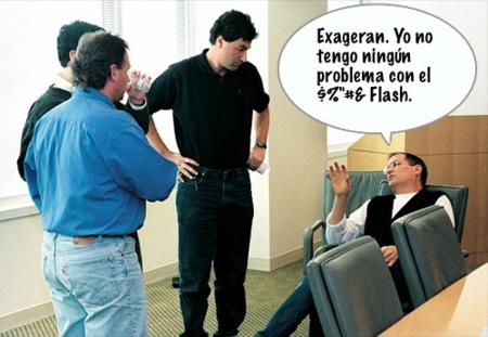 Steve Jobs vuelve a atacar a Adobe Flash en una reunión con Wall Street Journal