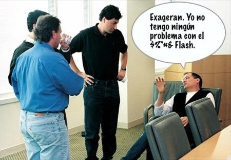 Steve Jobs vuelve a atacar a Adobe Flash en una reunión con Wall Street Journal