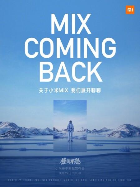 Xiaomi Mi Mix Regresa Nuevo Smartphone 29 Marzo 2021