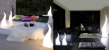 Flame, preciosa lámpara para exterior e interior