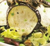 Ensalada de berenjenas y arroz salvaje