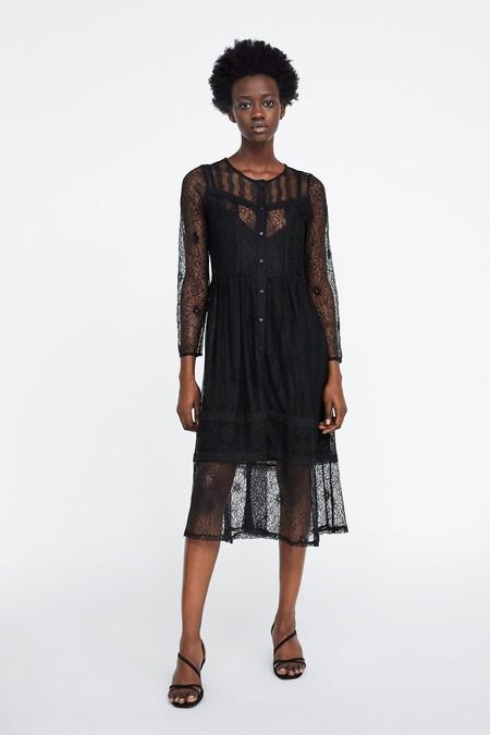 Vestido Negro Zara 12