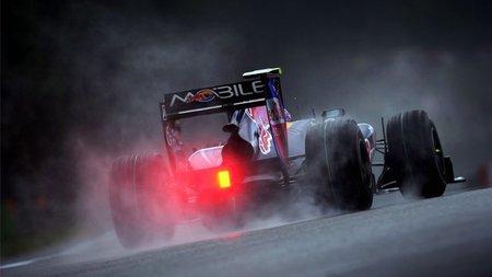 GP de Bélgica de Fórmula 1: Mark Webber se lleva el mejor tiempo en una sesión interrumpida por la lluvia