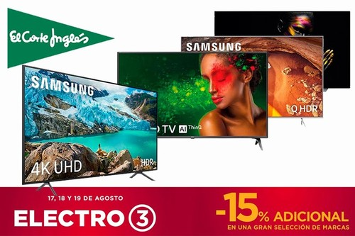 Estas 15 smart TVs Samsung, LG, Sony o Philips te saldrán mucho más baratas en las ofertas Electro 3 de El Corte Inglés