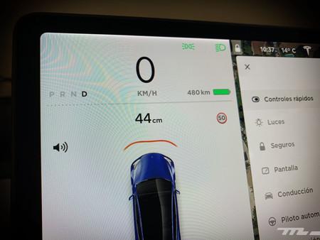 Tesla Model 3 Prueba indicador sensores