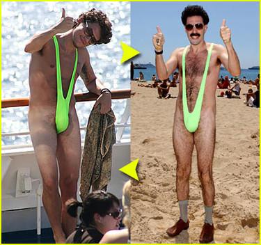 John Mayer, el nuevo novio de Jennifer Aniston, y el bañador de Borat