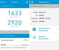 El iPhone 6 se deja ver en Geekbench. Chip A8 de doble núcleo, 1GB de RAM y nuevo sensor de 8 Mpx
