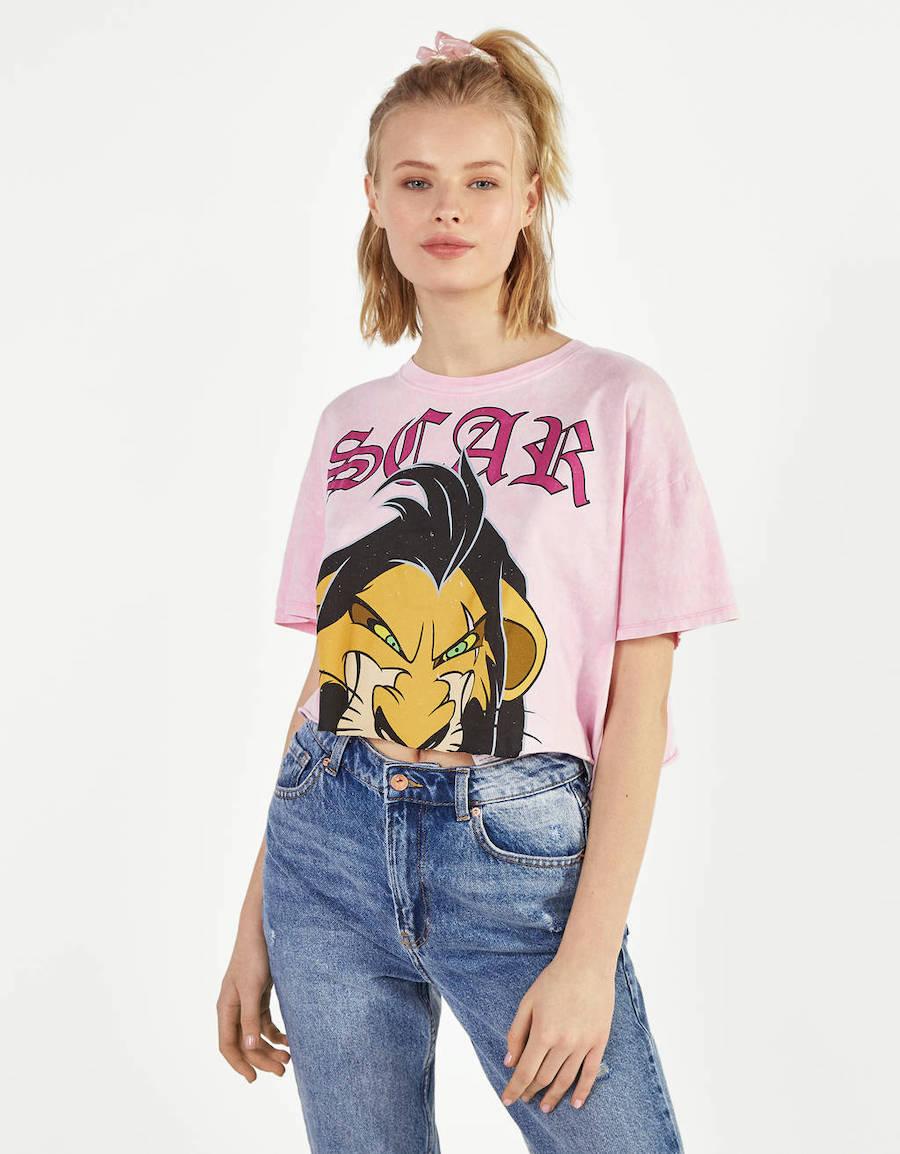 Camiseta cropped El rey león