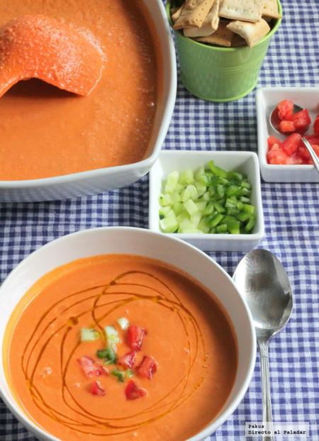 Gazpacho andaluz tradicional receta