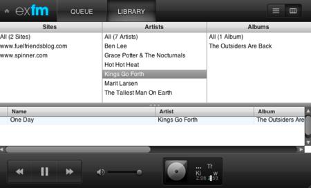 ExtensionFM: biblioteca de los MP3 de tus webs favoritas